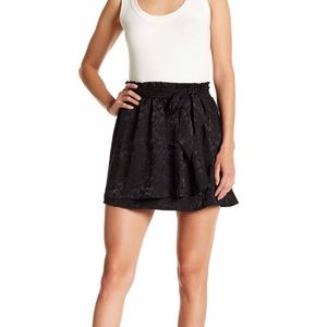 Nordstrom Tie Front Satin Wrap Skirt